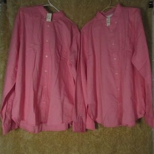Aéropostale Long Sleeve Size 2XL Pink 2in1